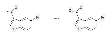 Ethanone,1-(5-bromobenzo[b]thien-3-yl)- is used to produce 5-Bromo-benzo[b]thiophene-3-carboxylic acid